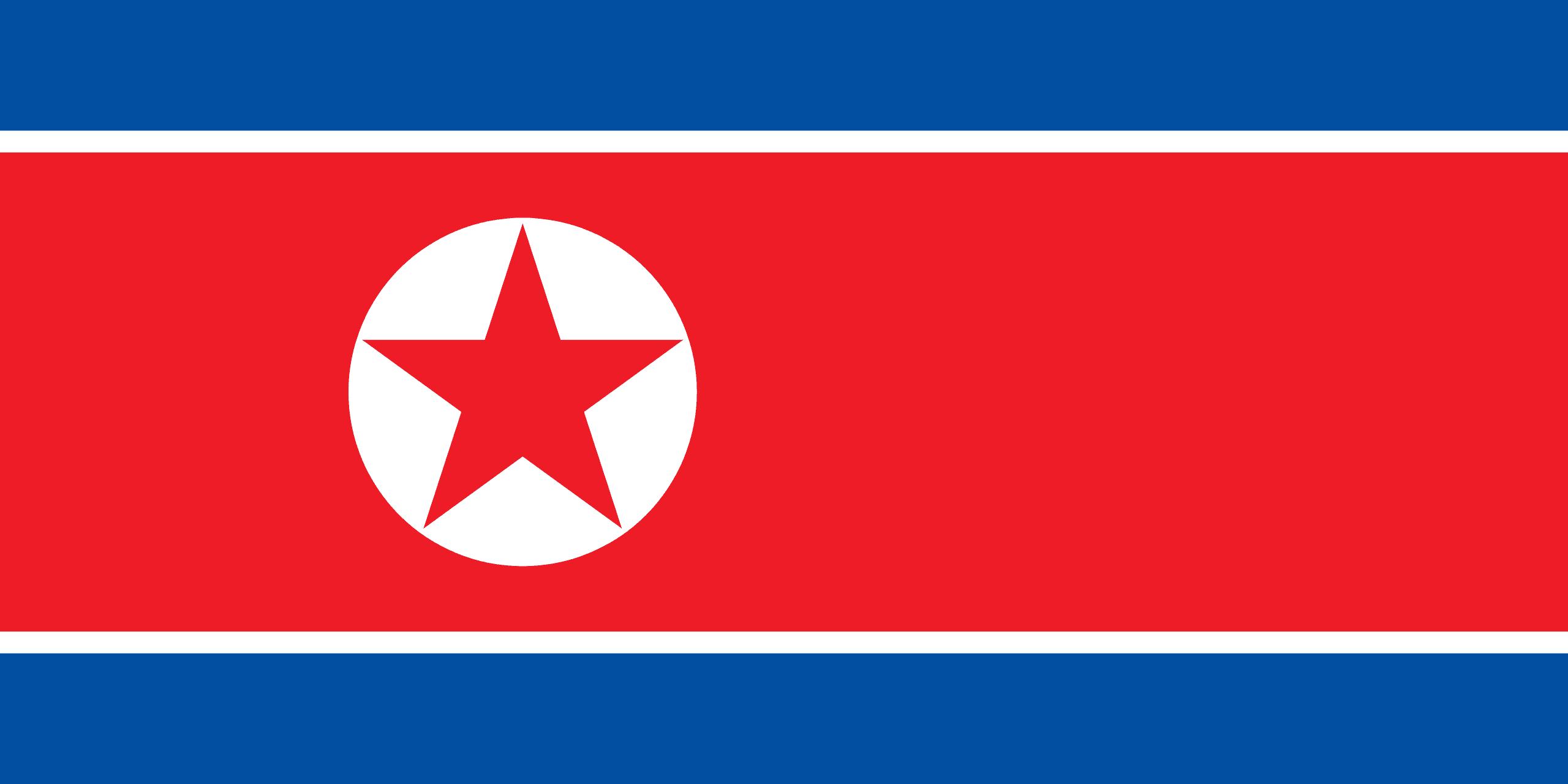 Výsledok vyhľadávania obrázkov pre dopyt severna korea vlajka