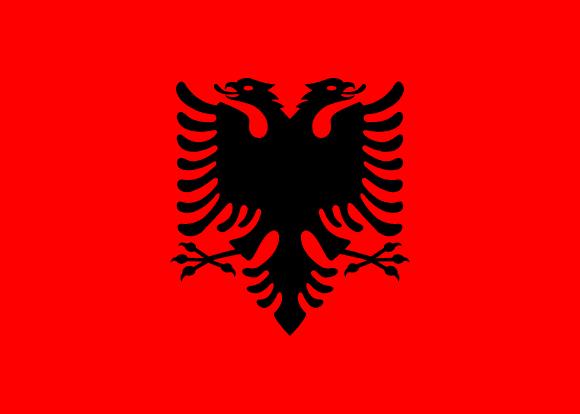 Vlajka: Albánie