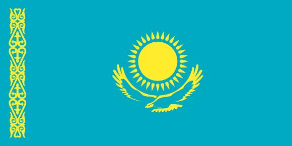Vlajka: Kazachstán