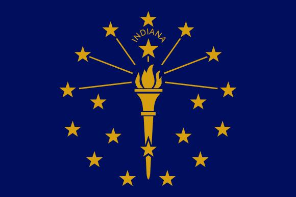 Vlajka: Indiana