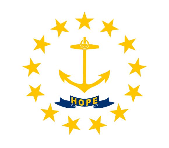 Vlajka: Rhode Island